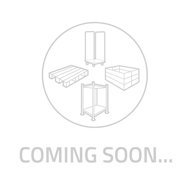 Plastic export pallet 24 feet, 1200x800x138mm - upright edge