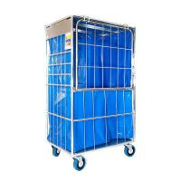 Laundry Cage with Liner - 900x665x1660mm - Drop Gate, Fully Enclosed