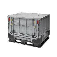 Plastic Pallet Box - 1211x1011x903mm - 750 L - Foldable - Folding Door