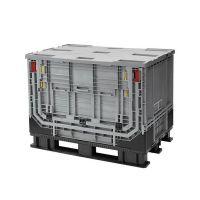 Plastic Pallet Box - 1211x811x902mm - 590 L - Foldable - Folding Door