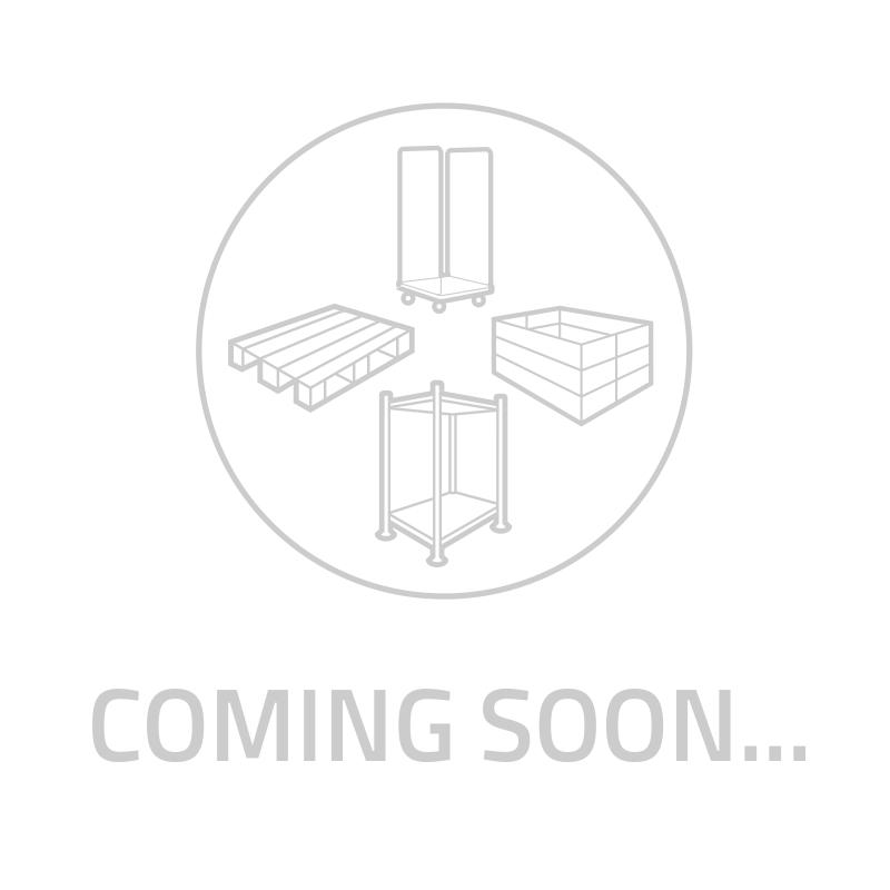 Foldable plastic pallet box 1220x820x1180mm - 3 slides, clickable