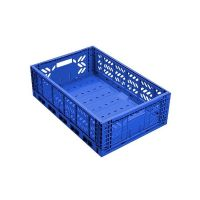 Folding Plastic Crate - 600x400x180mm - 38 L - Perforated, Used