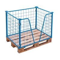 Wire Pallet Collar with V Opening - 1200x800x800mm