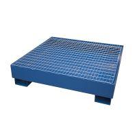 Steel drip tray 1220x1220x280 mm - galvanized grid, 270L
