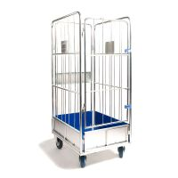 4 Sided Laundry Cage - 900x720x1750mm - Fixed Base