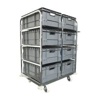 Internet Order Picking Trolley - Incl. 8 Euro Stacking Boxes 64576
