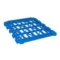 Blue shelf for two-wheeled containers witch - 150 kg loading capacity