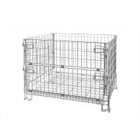 Folding metal wire container 1200x1000x1000mm - galvanized