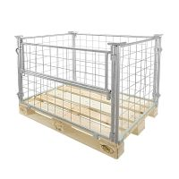 Collapsible wire set-up wall 1200x800x800mm, galvanized, 1 folding frame on the long side