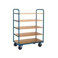 High shelf truck 910x500x1495mm two side rails - 5 shelves
