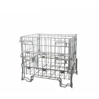 Collapsible wire container 800x600x700mm - galvanized