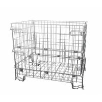 Folding metal wire container 1200x800x1000mm - galvanized