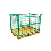 Collapsible wire design 1200x800x1000mm wall, painted green, 1 folding frame on the long side