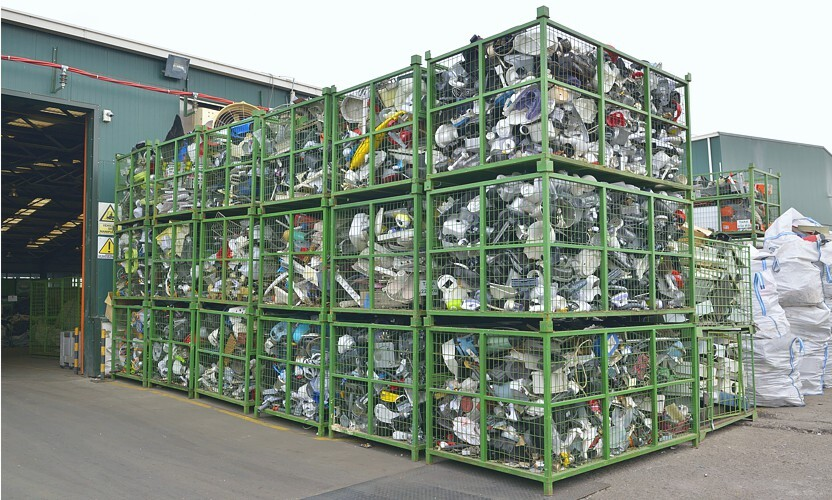 Use suitable logistics packaging for the electro-recycling process